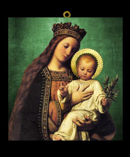 VE1 - Virgen Madonna y el Niño del Laurel