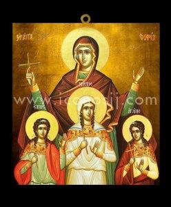SBM27 - Santa Sofía y sus hijas Fe, Esperanza y Caridad