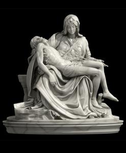 La Piedad del Vaticano o Pietà - Miguel Ángel [ Michelangelo Buonarroti ]