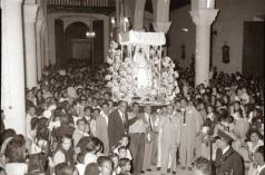Imagen de la Divina Pastora en la antigua Catedral de Barquisimeto, templo de San Francisco, luego de concluir la procesión